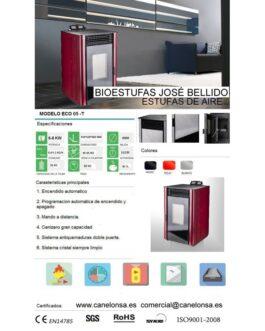 Bioestufa José Bellido Aire Canalizado 6-8Kw