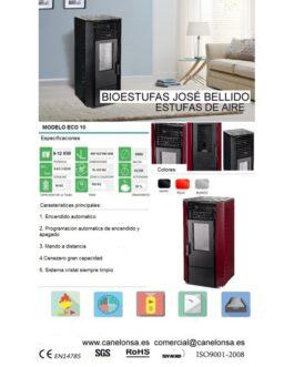 Bioestufa José Bellido Aire Canalizado 9-12Kw