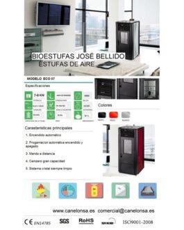 Bioestufa José Bellido Aire Canalizado 7-9Kw